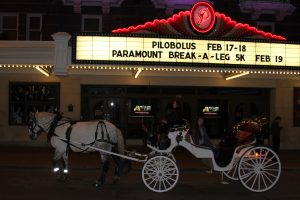 Austin Carriage delivers to the Austin Paramount Theatre
