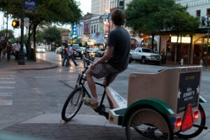 Downtown Austin, TX Pedicab