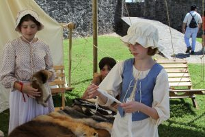 Living History in Goliad Texas During Reenactment Weekend