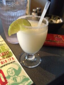 Blended margarita at Maudie's in Austin
