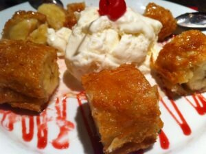 Fried Bananas with Coconut Ice Cream