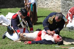 Wounded Mexican Soldier in Goliad, TX