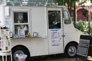Coolhaus food truck at E. 6th St. and Waller