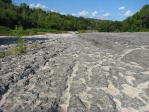 Ancient Volcanic Rock at McKinney Falls State Park in Austin