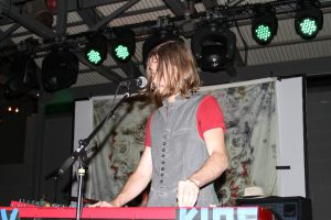 Stephen Buckle on keyboards in Saints of Valory