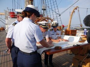 Cadets on the tall ship Eagle