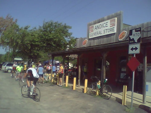 Andice General Store Texas a destination for cyclists
