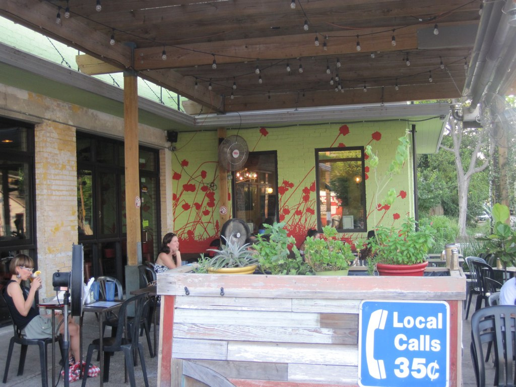 Patio at Bouldin Creek Coffeehouse on South 1st St.