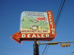 Bouldin Creek Coffeehouse Sign