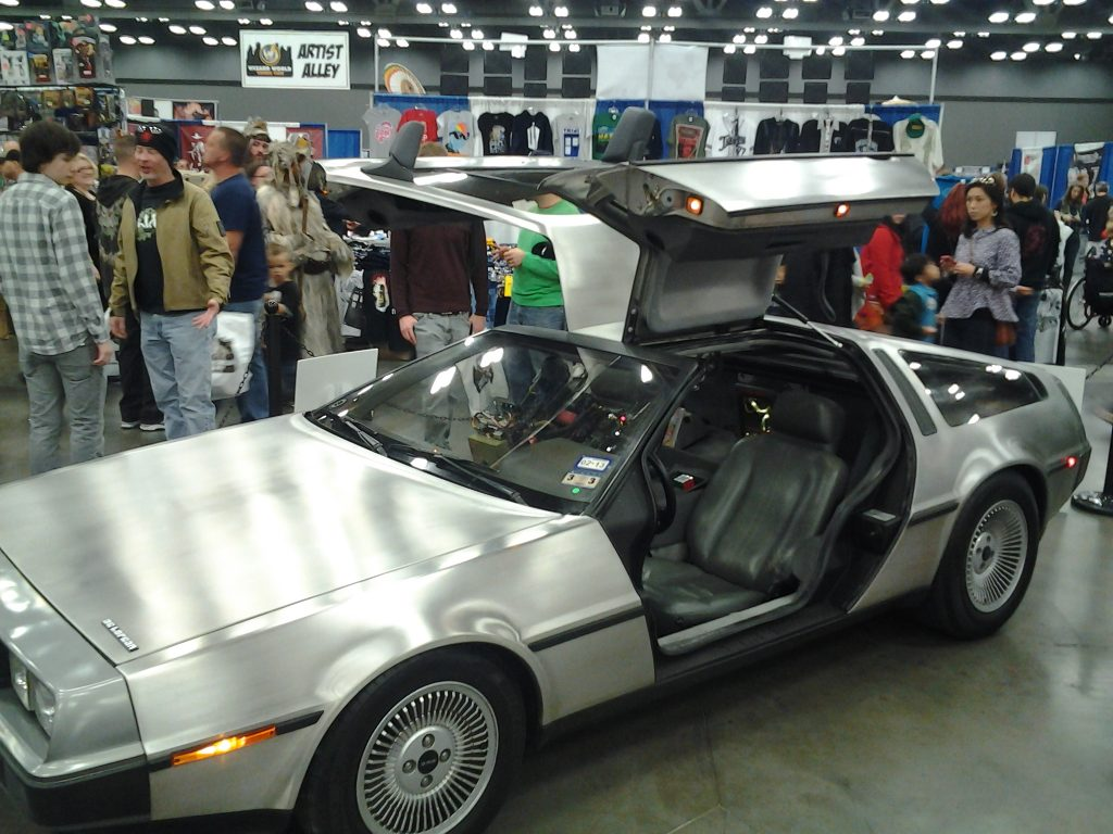 Back to the Future Car at Wizard World Comic Con