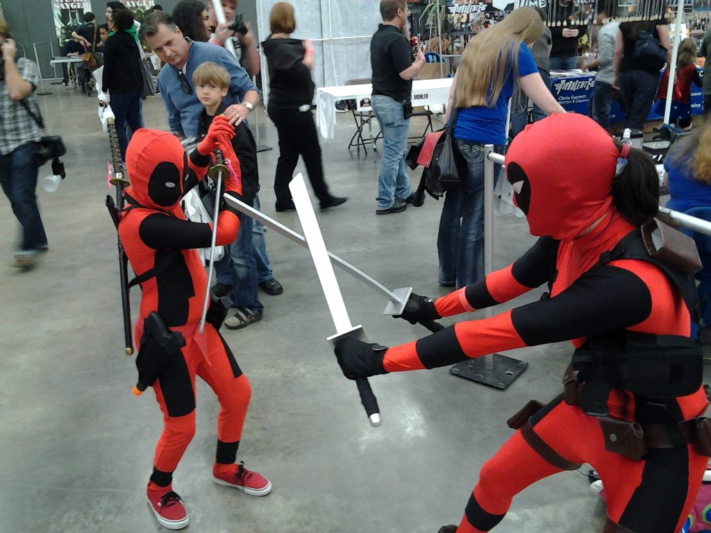 Ninja Fight at Wizard World Comic Con in Austin
