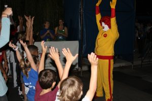 Ronald McDonald Stretching for Lights of Love 5K