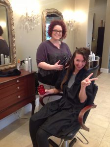 Hair stylist Amber Welch at 5 Elements