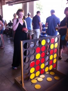 Life Sized Connect Four at Kung Fu Saloon in Austin