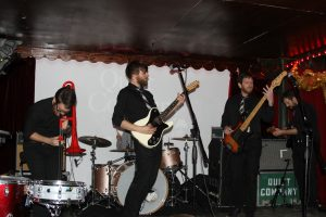 Quiet Company performs at the Black Fret launch party