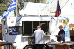 Among the best Austin food trucks is Big Fat Greek Gyros