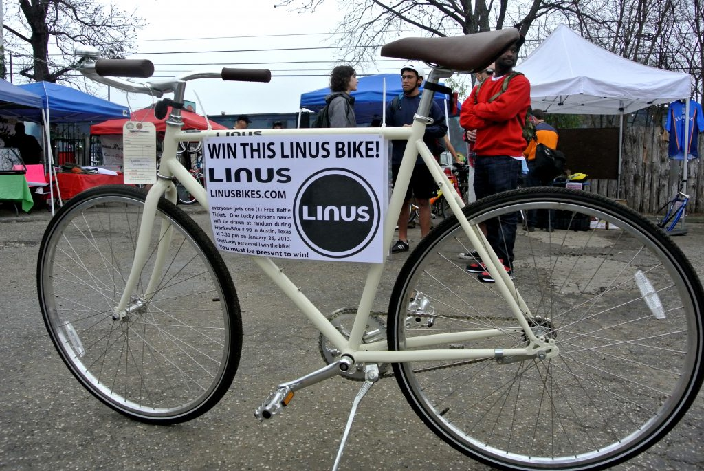 Linus Bike raffle at FrankenBike Austin