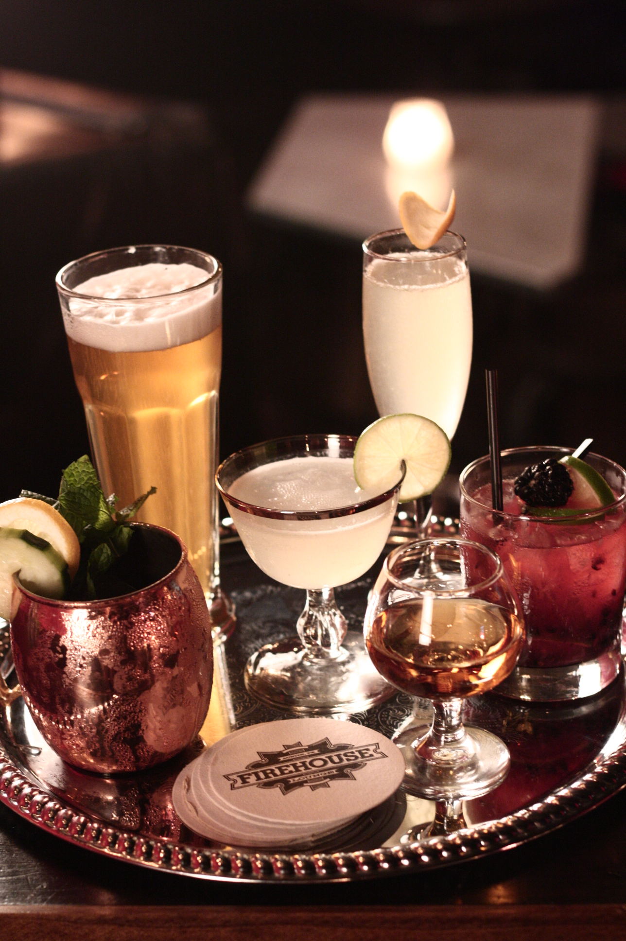 Extensive Cocktail Menu at Firehouse Lounge Austin