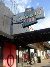 Continental Club sign in Austin