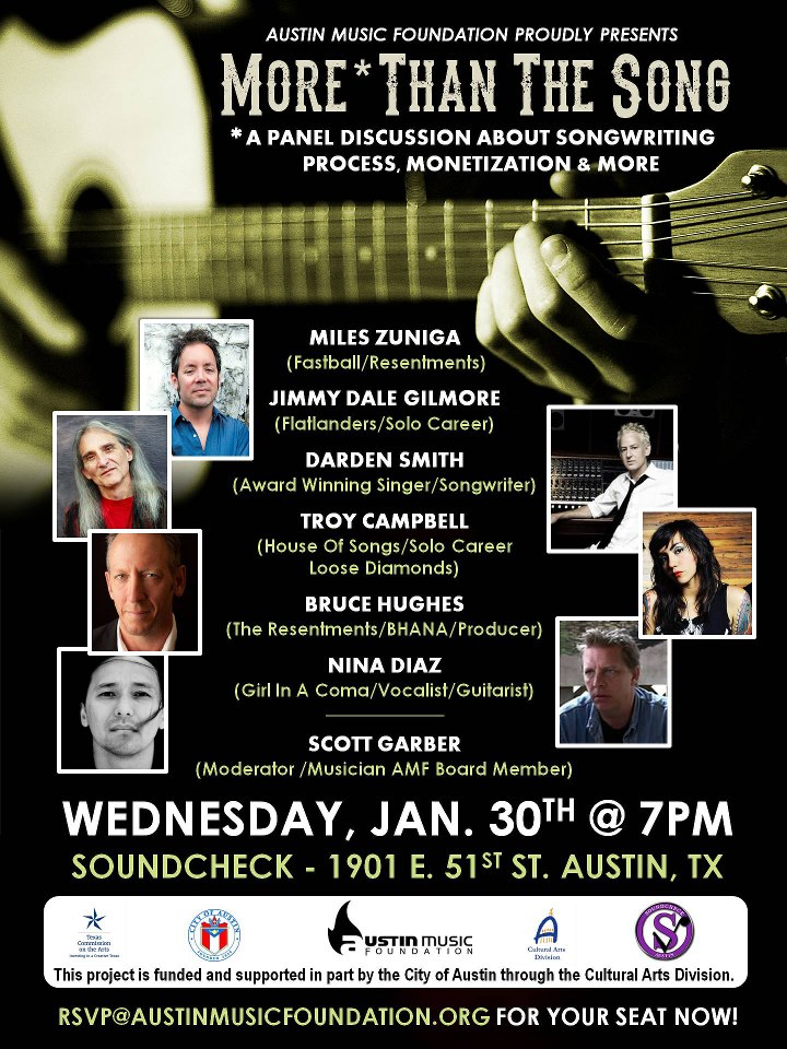 Austin Music Foundation event poster