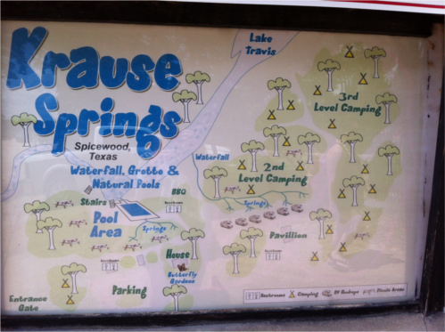 Krause Springs Map