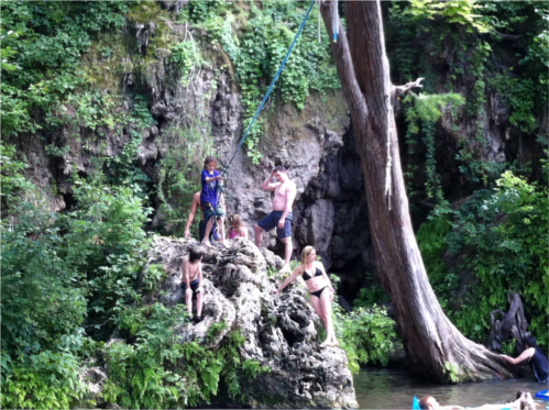 Krause Springs Rope Swing