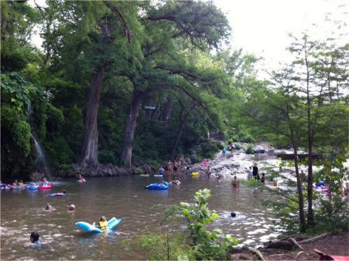 Krause Springs Swimming