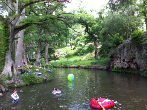 Krause Springs swimming area in Spicewood