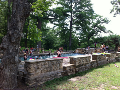 Man-Made Pool at Krause Springs