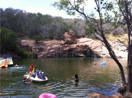 Devil's Watering Hole at Inks Lake State Park
