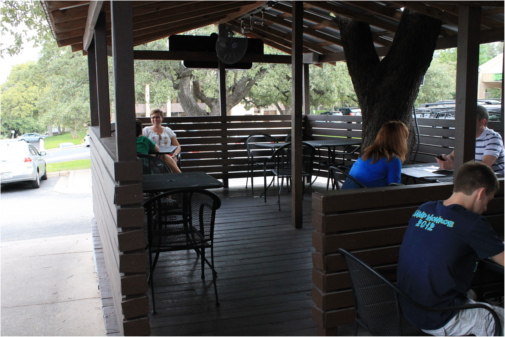 Dog Patio at Austin Terrier