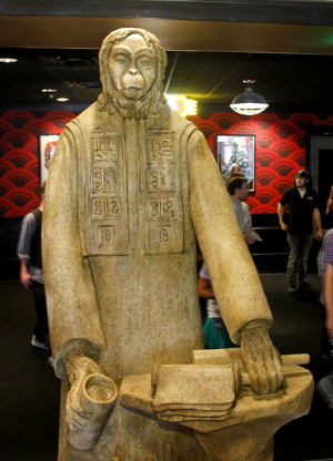 Planet of the Apes statue Alamo Drafthouse