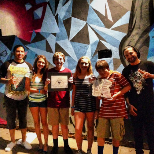 Eighth Graders and Free Art Friday Austin