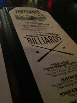 Games Billiards at The Goodnight