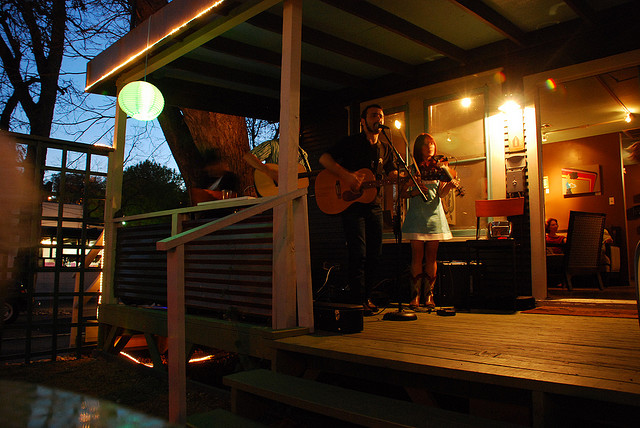 Trio on the Porch live music