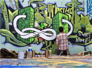 Castle Hill Graffiti Austin