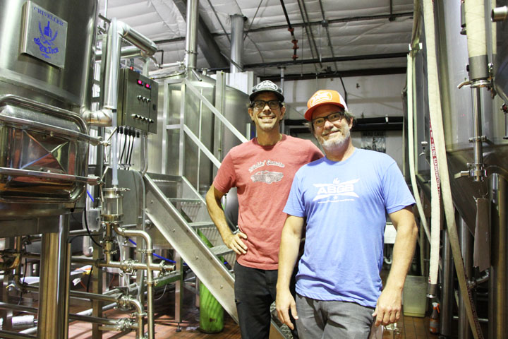 Austin Beer Garden Brewing Company Head Brewers Brian Peters and Amos Lowe