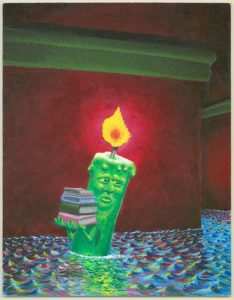 Candle With Books Sam Hurt