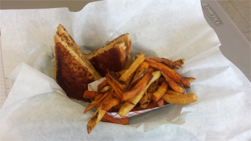 Wholly Cow Grilled Cheese Sandwich