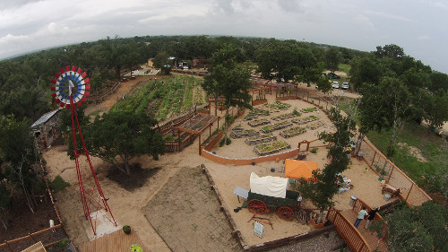 Aerial view of the Community First! Village
