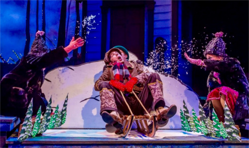 Frog and Toad Sledding at Zach Theatre