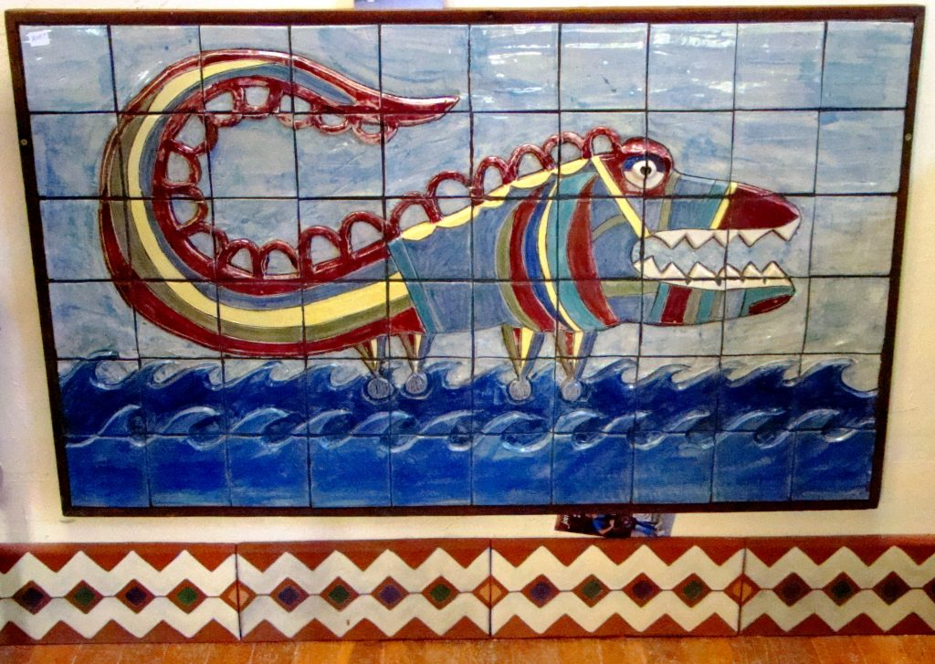 Dragon and Baseboard Tiling at Clayworks