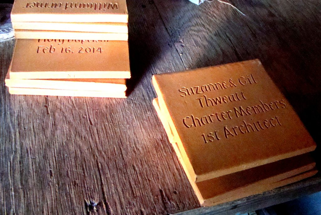 Inscribed Tiles by Clayworks