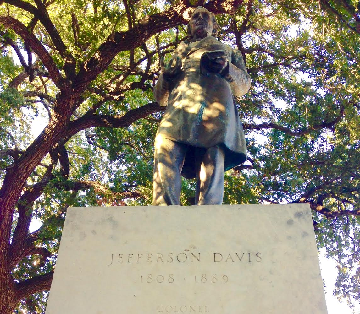 Jefferson Davis Statue on University of Texas Campus