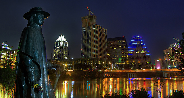 Stevie Ray Vaughan Statue in Austin