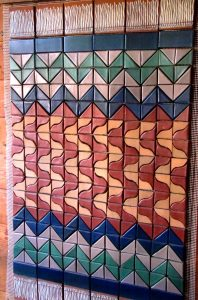 Terra Cotta Tapestry Made of Clay