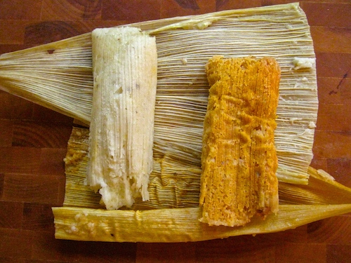 Chicken and Pork Tamales from La Mexicana Bakery