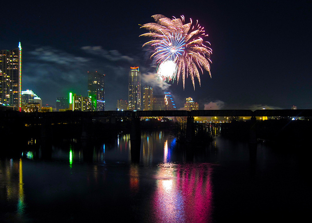 New Years Eve in Austin Fireworks