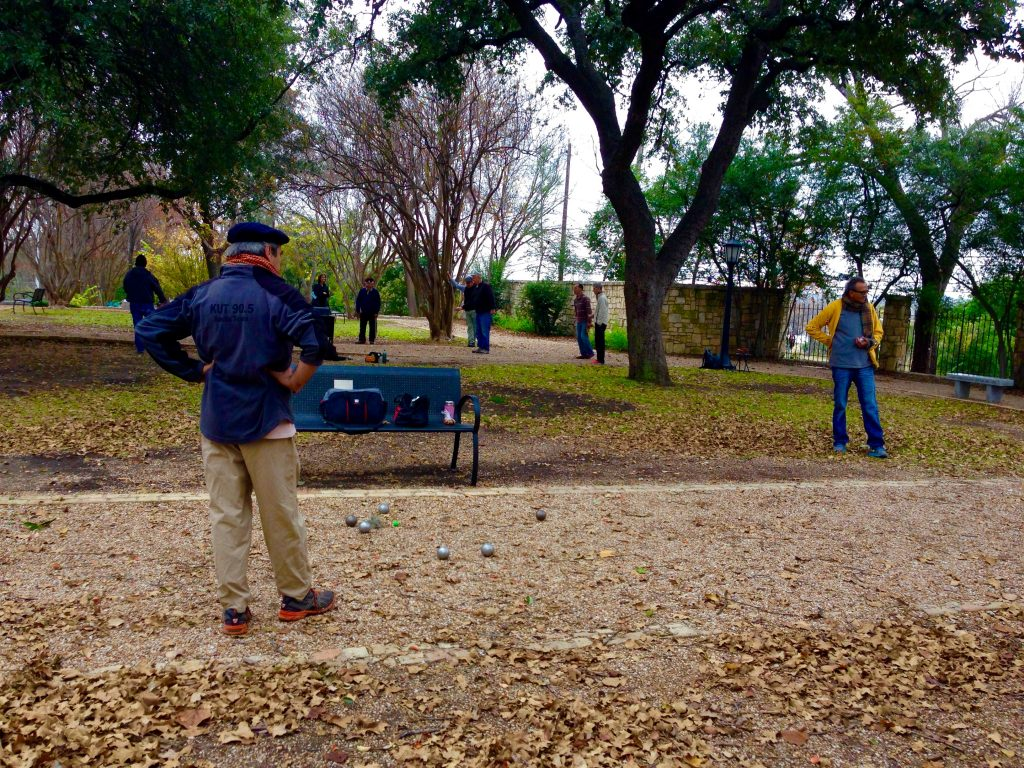 Game of Petanque in Austin