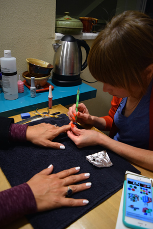 Best 3 spots for creative austin nail art meghann doing detail work prinsesfo Gallery